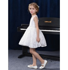 Sample flower girl formal dress white 110-120cm