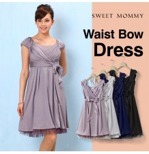 Wide sash Maternity and Nursing Formal Dress