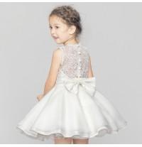 Sample flower girl formal dress white 120cm
