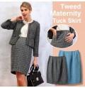Maternity tweed skirt