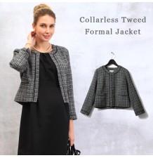 Elégante veste en tweed sans col