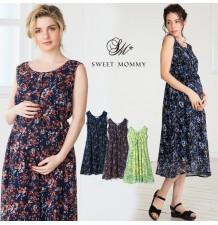 Maternity and nursing sleeveless dress