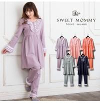 Pyjama de grossesse et allaitement à volants