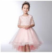 Robe de cérémonie fille-demoiselle d'honneur 100-160cm Rose
