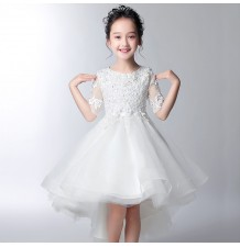 Vestito cerimonia bimba damigella bianca 100-160cm