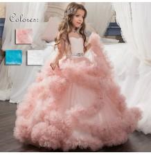 Flower girl long formal dress 100-160cm