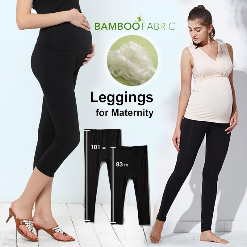 Leggings de grossesse en tissu de bambou