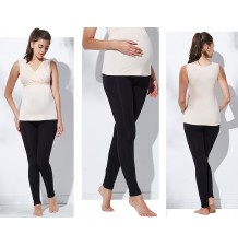 Bamboo fabric simple maternity leggings