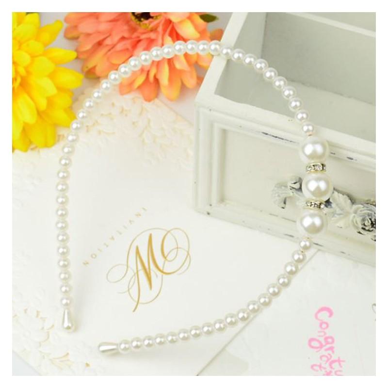 nuovo di zecca prezzo economico davvero comodo Cerchietto bimba bianco con perline per cerimonia | SWEET MOMMY