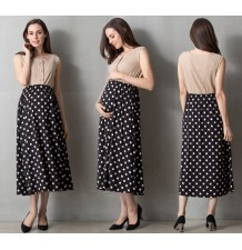 Maternity and nursing dot dress