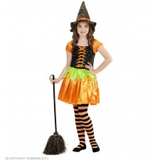 Halloween pumpkin Witch Costume 4-13 years