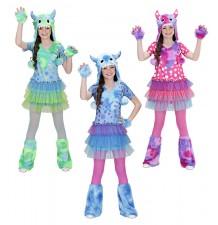Costume Monster Girl 3-7 anni