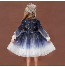 "Flower girl formal long sleeve ""night sky"" dress 90-140cm"