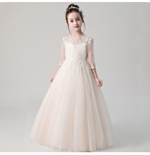 Flower girl long formal dress 100-160cm