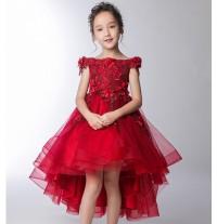 Robe de cérémonie fille 100-160cm rouge