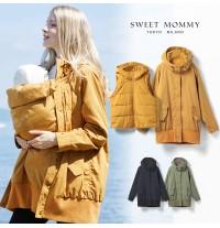 Manteau de portage maman enfant avec insert et gilet