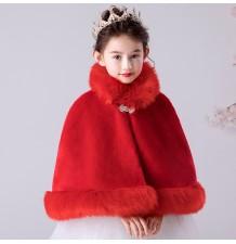 Bolerino rosso natalizio bambina 100-160cm
