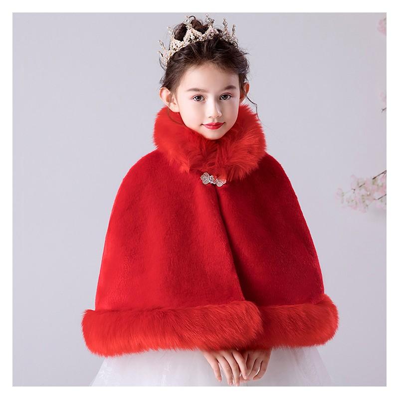 Christmas red bolero for little girl 100-160cm