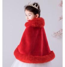 Boléro rouge de Noel pour petite fille 100-160cm