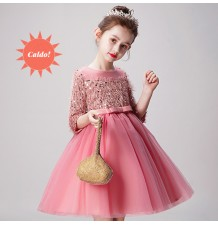Flower girl ceremony formal dress winter 100-160cm