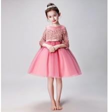 Flower girl ceremony formal dress winter 100-160cm