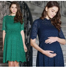 Maternity and nursing lace formal dress 2 pcs