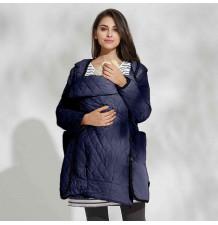 Veste imperméable de grossesse et de portage maman enfant avec chancelière coordonnée multifonction