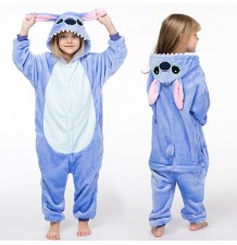 Costume pyjama d'Animal Bleu 3-10 ans
