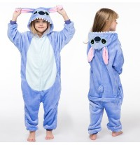 Costume Pigiama Animale Blu 3-10 anni