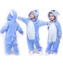 Blue Animal Costume Pyjamas 3-10 years
