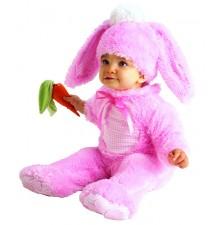 Costume Coniglietta Rosa 0-24 mesi