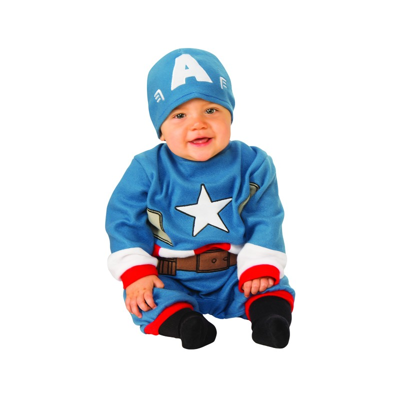 Costume Capitan America neonato 0-12 mesi