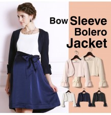 Bow sleeve bolero jacket
