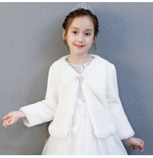 Winter white bolero for little girl 100-160cm
