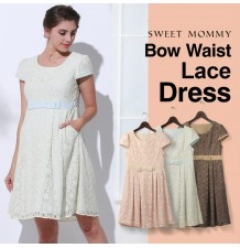 Maternity and nursing lace formal dress