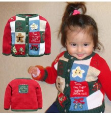 Baby Christmas sweater in cotton 80-100cm