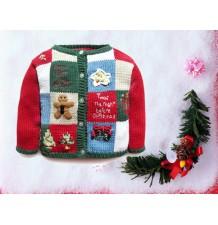 Chandail de Noël pour enfant en coton 80-100cm