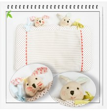 Anatomical and Ergonomic Pillow With Pillowcase For Baby Bunny