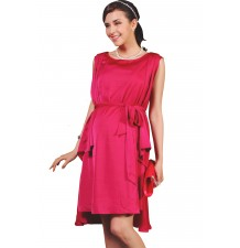 A-Line Formal Maternity and Nursing Satin Dress