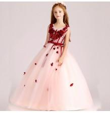 Flower girl formal dress pink/red 100-150cm