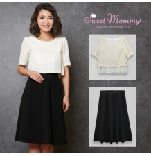 B-color Maternity and nursing 2 pieces formal set