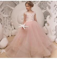Vestito cerimonia bimba ragazza damigella su misura