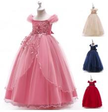 Tailored girl long formal dress flower girl various colors