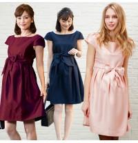 Shantung Fabric Maternity and Nursing Formal Dress