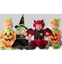 Costume de Halloween et Carnaval Citrouille Incharacter 0-24 mois