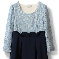 Blue*Navy - 3/4 sleeve