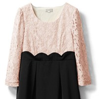 Pink*Black - 3/4 sleeve