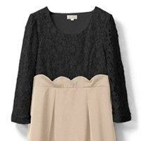 Black*Beige - 3/4 sleeve