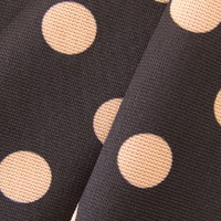 Black with gold polka-dot