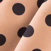 Gold with black polka-dot